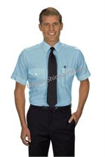 Blue - Tall Pilot Shirts Van Heusen The Aviator TALL Pilot Uniform Shirts